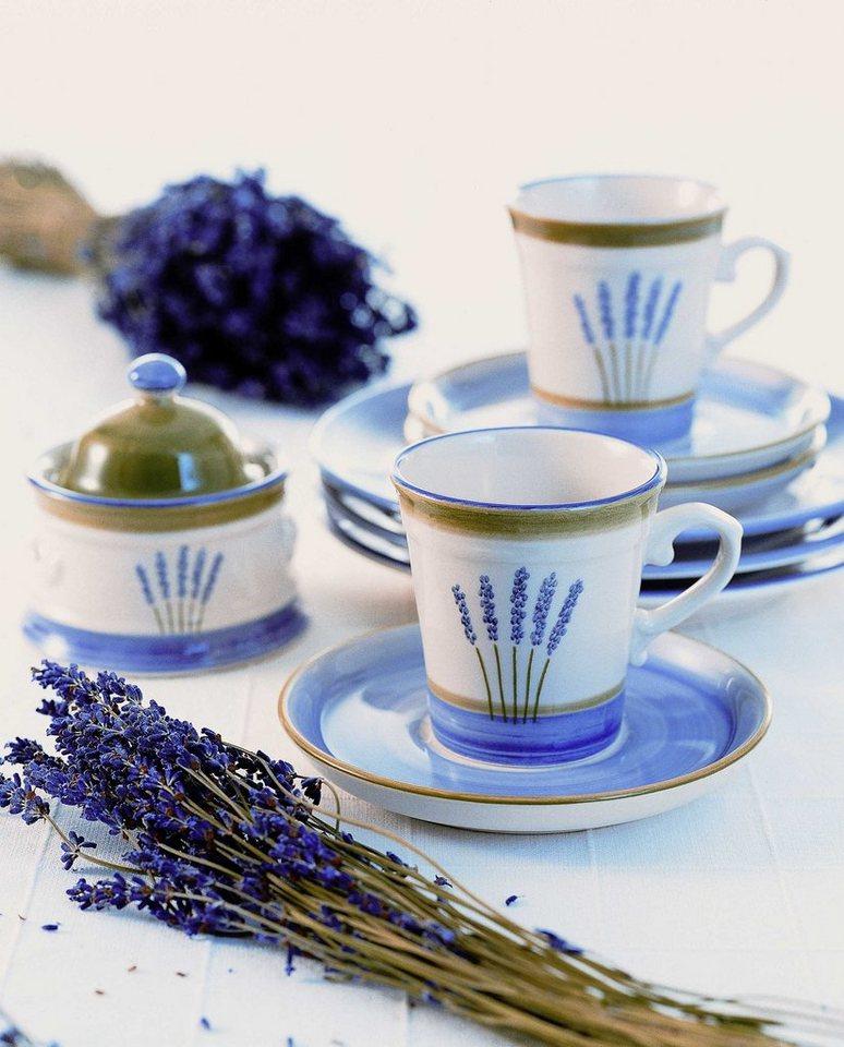 Zeller Keramik Tortenplatte »Fleur de Provence« in Weiß