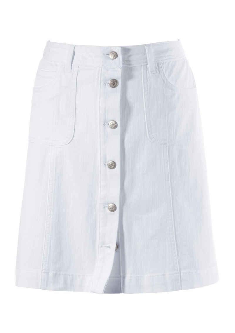 Aniston CASUAL Jeansrock mit Knopfverschluss