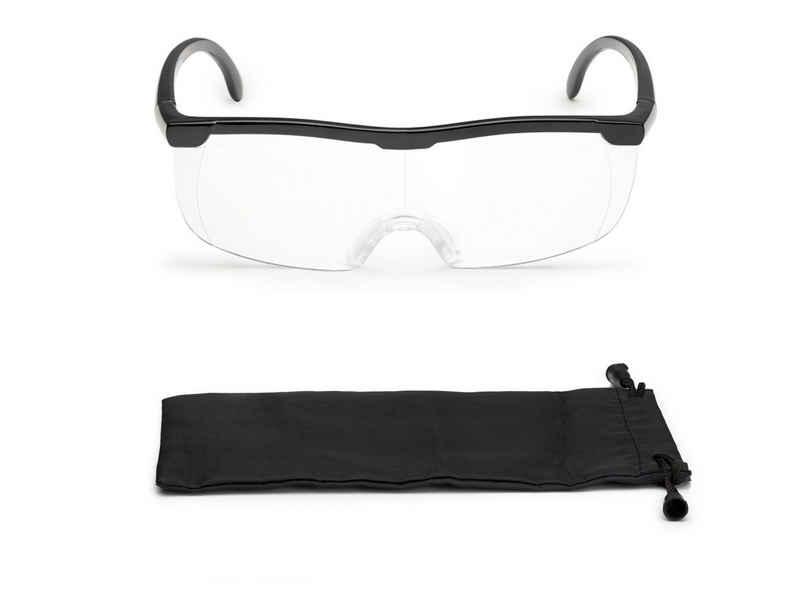 FALINGO Lupenbrille »Vergrößerungsbrille Lupenbrille Zauberbrille Lupe auf der Nase optische Vergrößerung auf 200%«