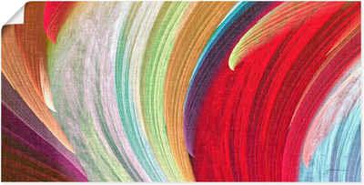 Artland Wandbild »Windwellen I«, Muster (1 Stück), in vielen Größen & Produktarten - Alubild / Outdoorbild für den Außenbereich, Leinwandbild, Poster, Wandaufkleber / Wandtattoo auch für Badezimmer geeignet
