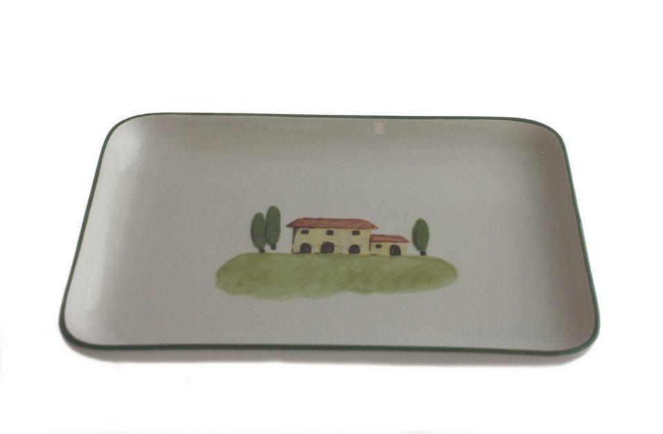 Zeller Keramik Platte eckig »Bella Toscana« in Weiß