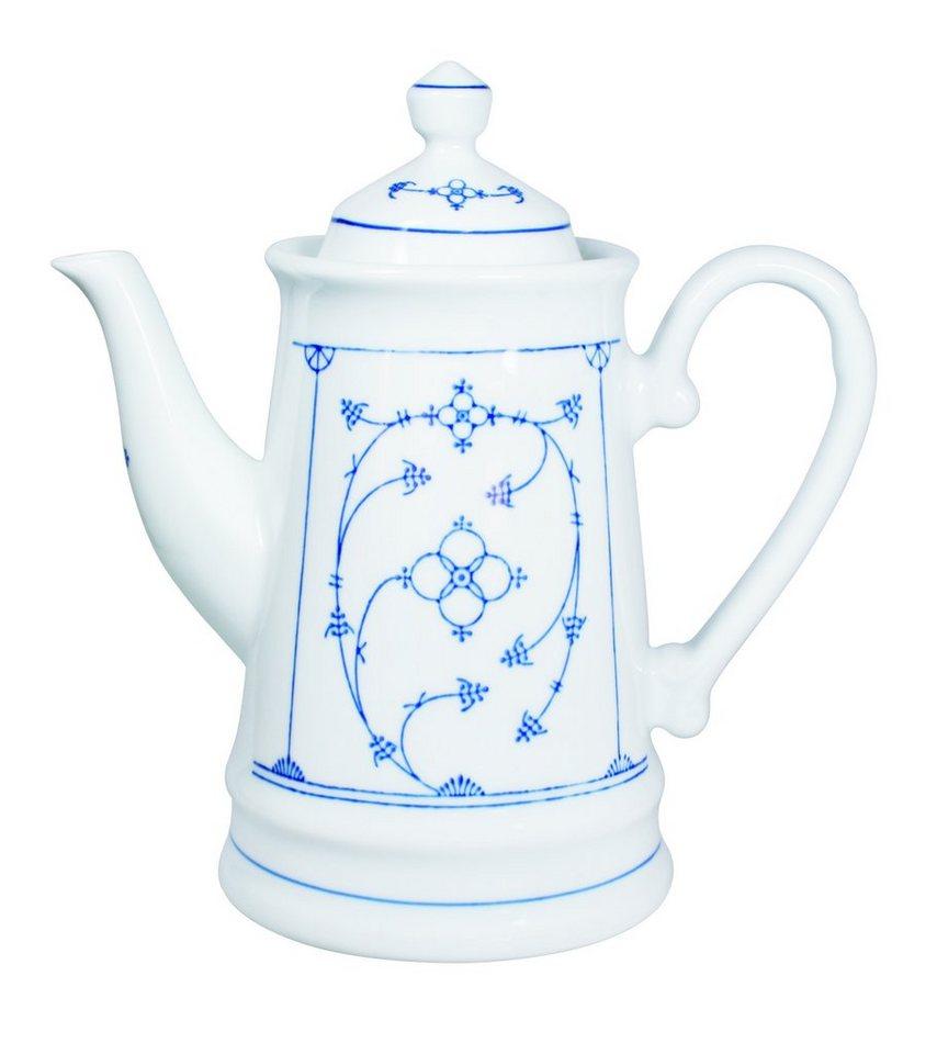 Kahla Kaffeekanne »Blau Saks« in Weiß