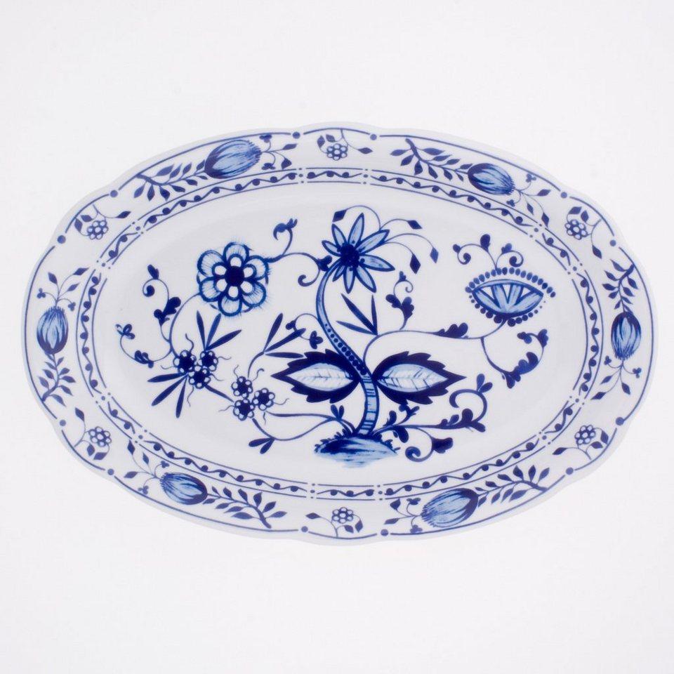 Kahla Platte oval »Zwiebelmuster« in Weiß, Blau