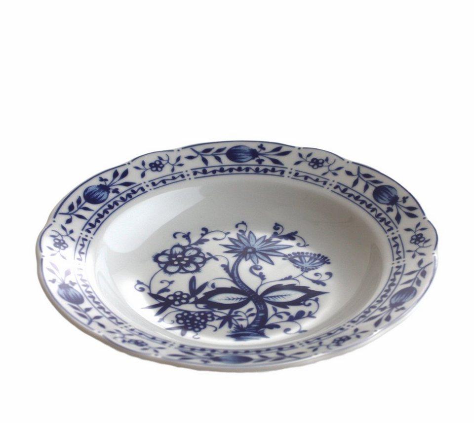 Kahla Suppenteller »Zwiebelmuster« in Weiß, Blau