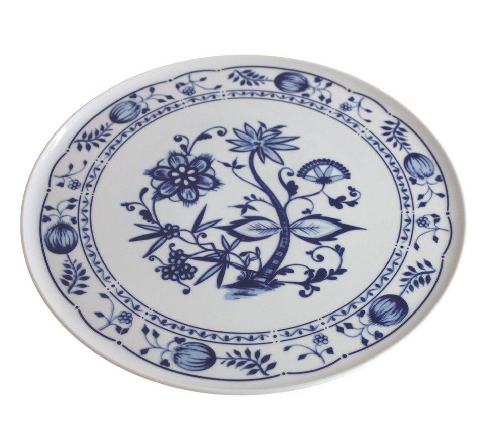 Kahla Tortenplatte »Zwiebelmuster« in Weiß, Blau