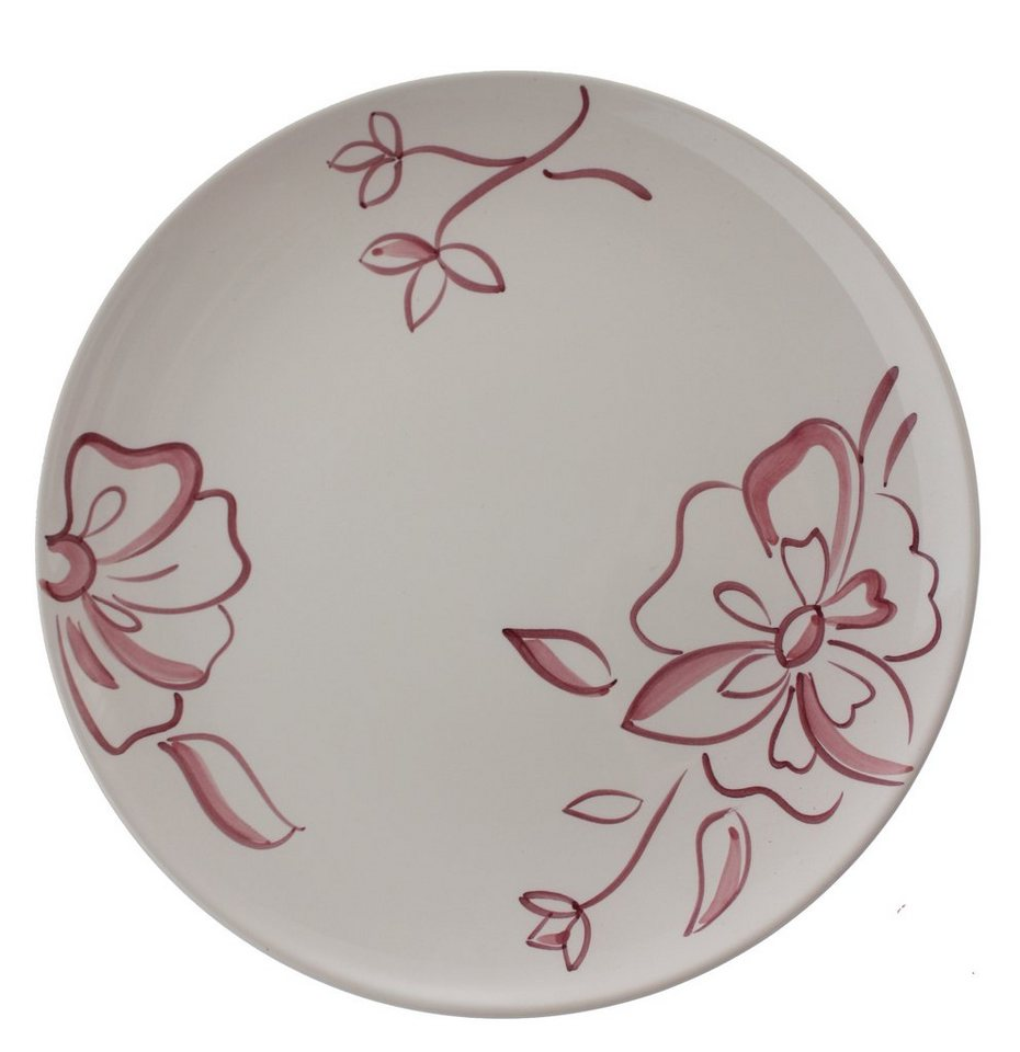 Zeller Keramik Teller flach »Ono Cara« in Weiß