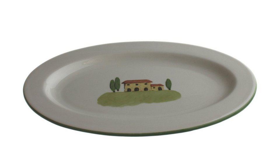 Zeller Keramik Platte oval »Bella Toscana« in Weiß