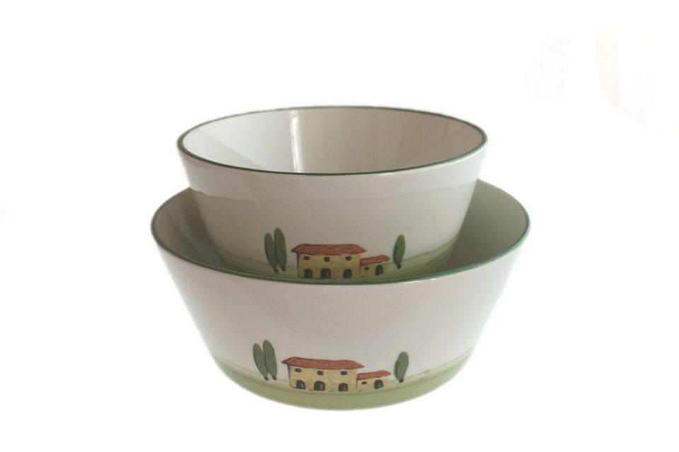 Zeller Keramik Schüssel »Bella Toscana« in Weiß