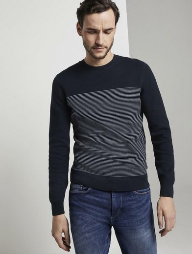 TOM TAILOR Strickpullover »Sweater im Struktur-Mix«