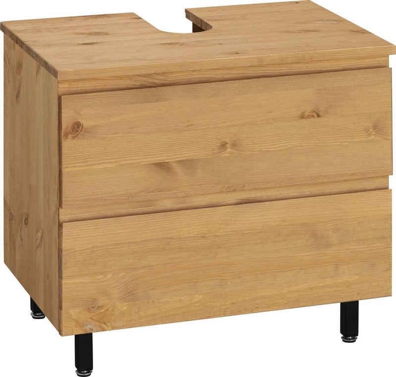 OTTO products Waschbeckenunterschrank »Fjonn« aus Kiefer massiv, Breite 60 cm, Massivholz mit pflanzlichem Bio Öl behandelt