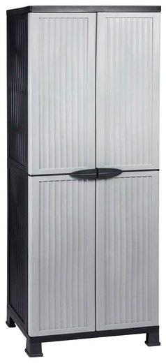 Kreher Mehrzweckschrank »Noble« B/T/H: 68x40x171 cm, abschließbar, mit 3 Böden