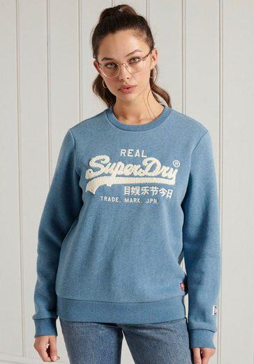 Superdry Sweater »VL CHENILLE CREW« mit 3D Chenille Print