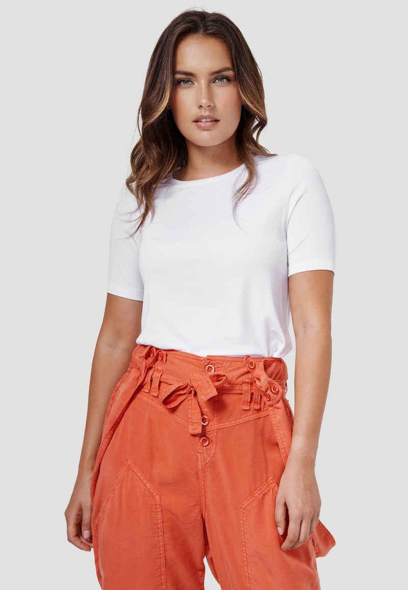 Cotton Candy T-Shirt »WINA« mit dezentem Glanz