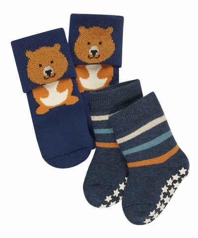 FALKE Socken »Baby Bear & Stripe 2-Pack« (2-Paar) aus hautfreundlicher Baumwolle