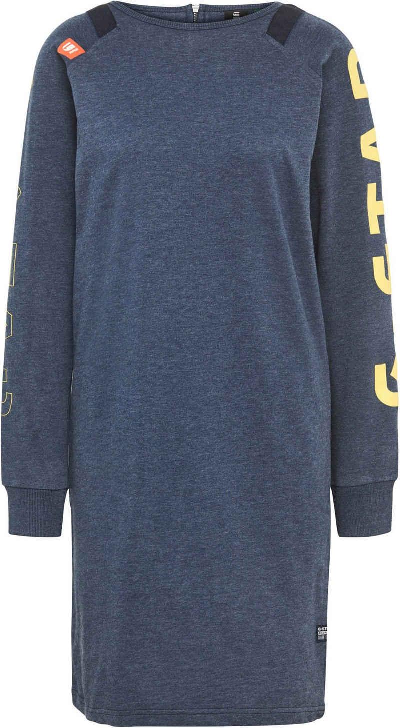 G-Star RAW Sweatkleid »Sleeve Print Tweater Kleid« mit Gewebebändern am Rundhalsausschnitt