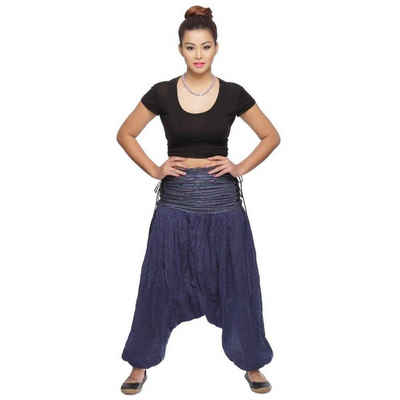 SIMANDRA Haremshose »Jaya Damen« (1-tlg) Pumphose Pluderhose Aladinhose Boho Baumwolle Yoga Goa Hippie Stoffhose