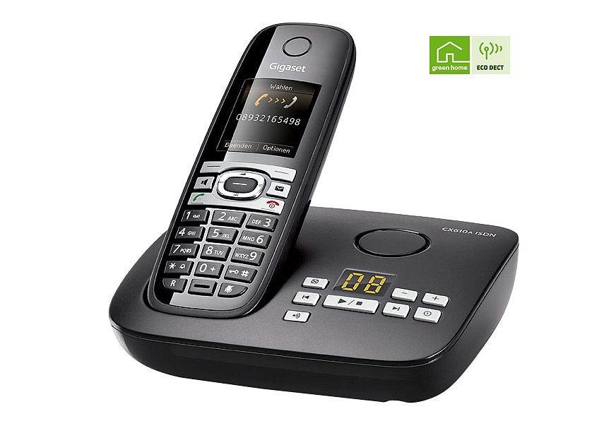 Gigaset CX610A Schnurloses ISDN Telefon mit AB in schwarz