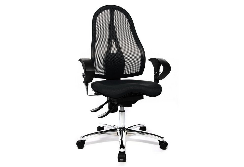 topstar b rostuhl sitness 15 st19u in 2 farben mit dreidimensional beweglicher sitzfl che. Black Bedroom Furniture Sets. Home Design Ideas