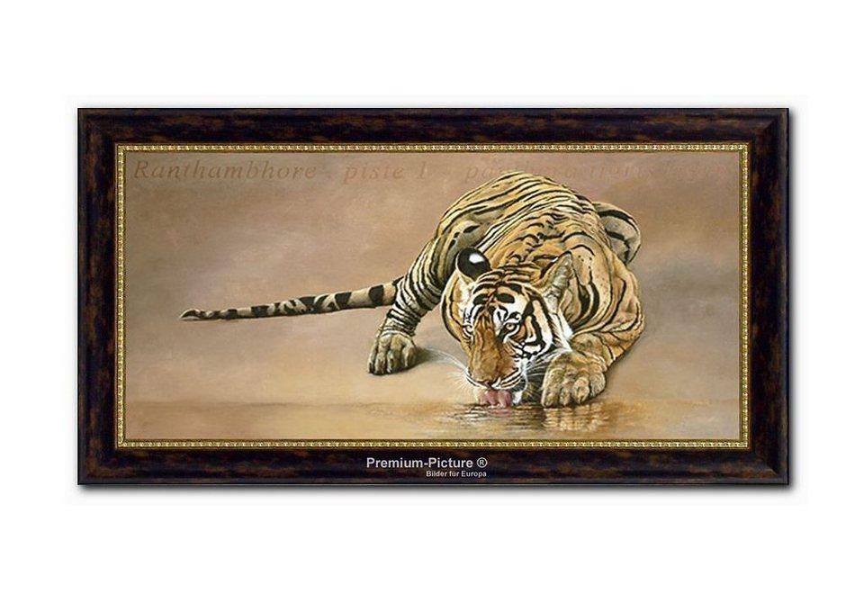 XXL Wandbild, PREMIUM PICTURE, »Tiger«, 115x65cm in braun