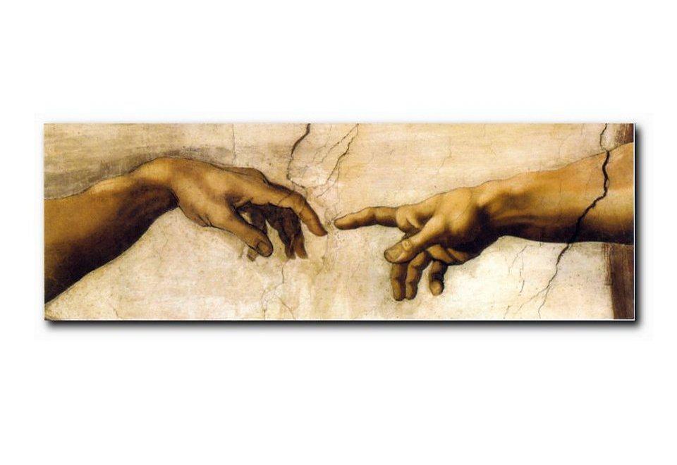 XXL-Wandbild, PREMIUM PICTURE, »Hände«, 150x52cm in braun