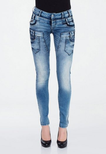 Cipo & Baxx Slim-fit-Jeans im Biker-Style