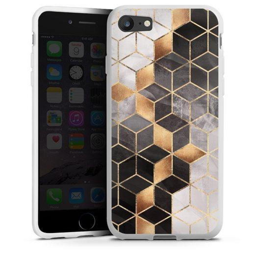 DeinDesign Handyhülle »Smoky Cubes« Apple iPhone 7, Hülle Elisabeth Fredriksson Würfel Muster