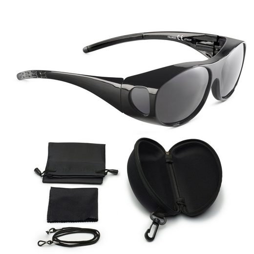 FALINGO Sonnenbrille »Sonnenüberbrille Überzieh Sonnenbrille Überbrille Überziehbrille FLEXI EDITION polarisiert UV 400«