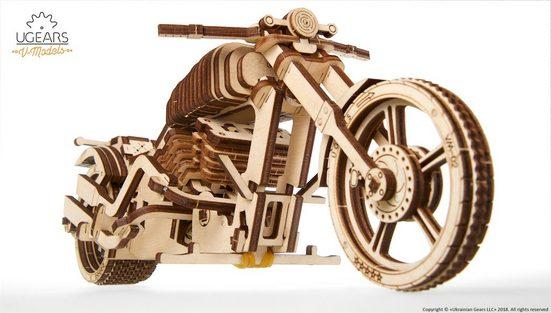 UGEARS 3D-Puzzle »UGEARS Holz 3D-Puzzle Modellbausatz MOTORRAD VM-02«, 189 Puzzleteile