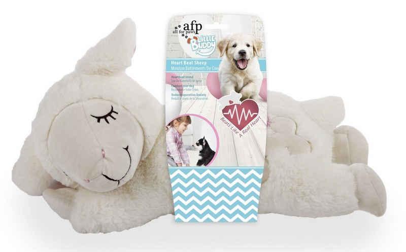 all for paws Tierkuscheltier »Little Buddy - Heart Beat Sheep - Spielzeug für«, Plüsch, (1-tlg) - Schaf mit Herzschlagsimulator