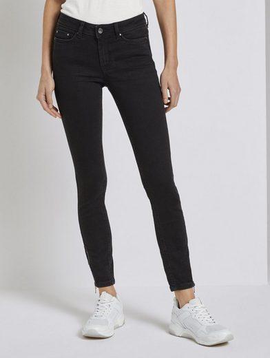 TOM TAILOR Denim Skinny-fit-Jeans »Jona Extra Skinny Jeans mit Reißverschlussdetail«
