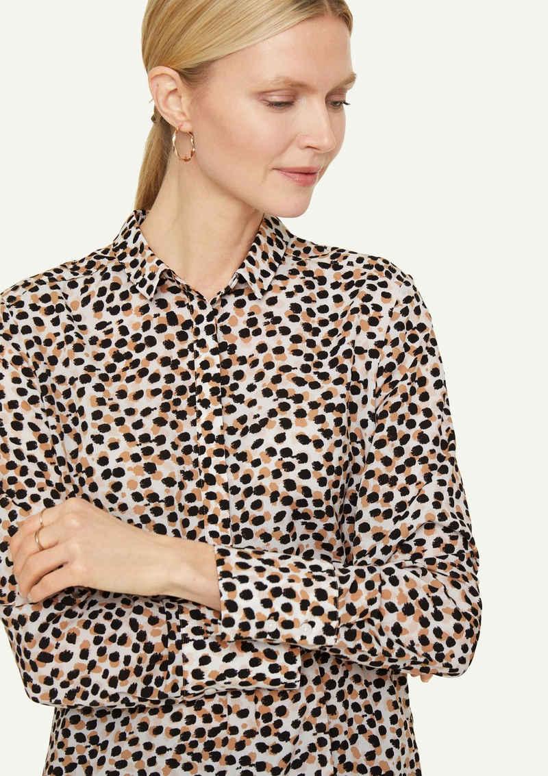 Comma Langarmbluse »Long-Bluse mit Allover-Print«