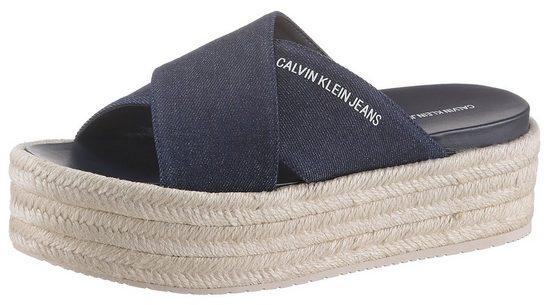 Calvin Klein »Fernanda« Pantolette im Jeans-Look