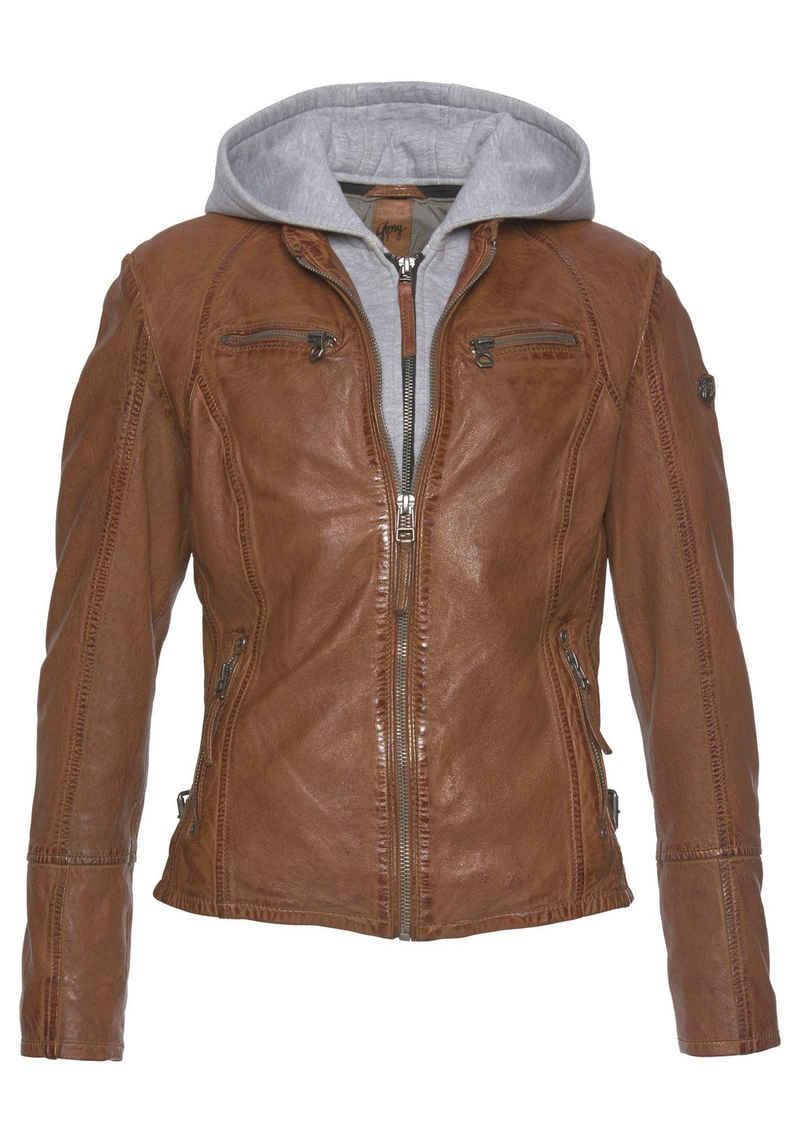 Gipsy Lederjacke »NOLA« Two-in-One Style - mit abnehmbarer Jersey-Kapuze