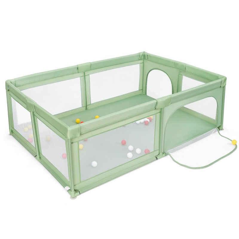 COSTWAY Laufstall »Laufgitter«, mit 50 Bällen, atmungsaktivem Netz, Reißverschluss und 2 Türen, für Säuglinge und Kleinkinder