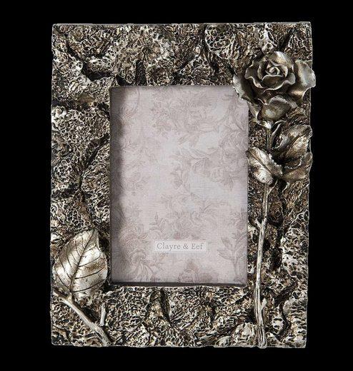 Clayre & Eef Bilderrahmen »Bilderrahmen barock silbergrau Relief Rose«