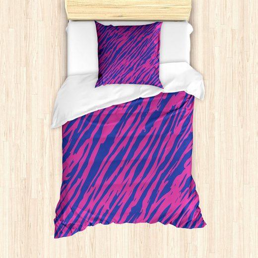 Bettwäsche »Milbensicher Allergiker geeignet mit Kissenbezug«, Abakuhaus, rosa Zebra 80er Jahre Stil Grunge