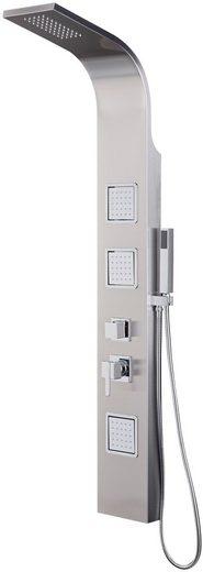 welltime Duschsäule »Edelstahlduschsäule Miami«, Höhe 150 cm, Inklusive eckiger Handbrause und Umsteller
