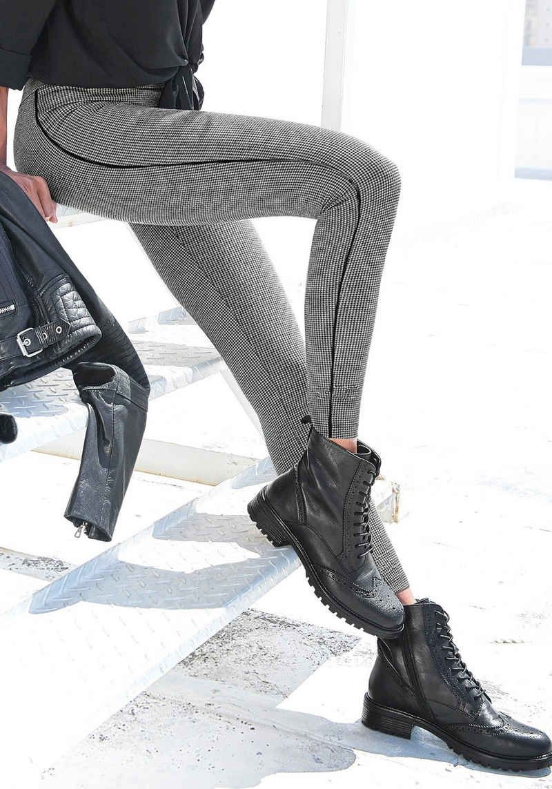 LASCANA Leggings mit Pepita Muster