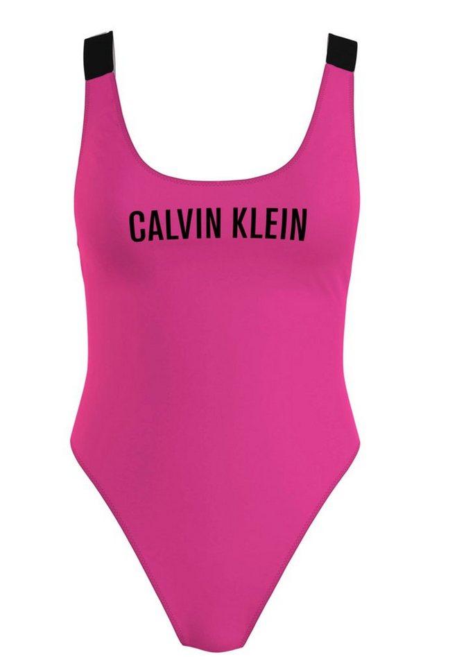 Bademode - Calvin Klein Badeanzug, mit sehr hohem Beinausschnitt › rosa  - Onlineshop OTTO