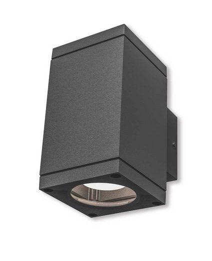 Kiom Wandleuchte »Außen-Wandleuchte Patoro S 2x35 W GU10 IP54 d-grau«