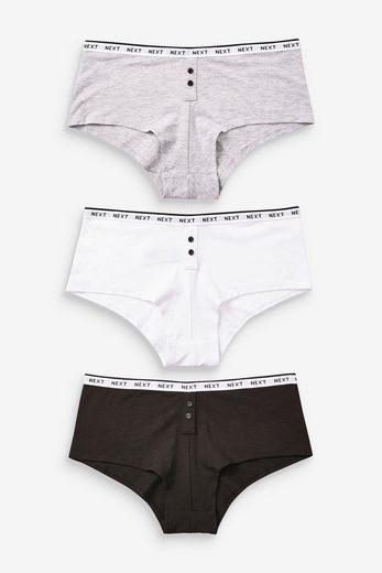 Next Slip »Boy-Shorts Slips mit Logo im 3er-Pack« (3 Stück)