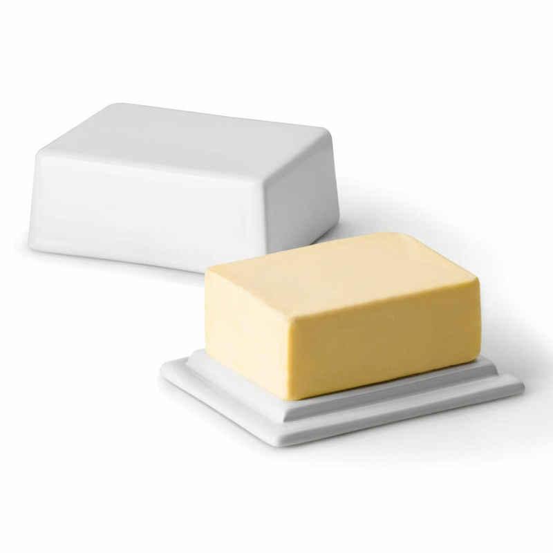 Continenta Butterdose »für 250 g Butter Weiß«, Keramik, (1-tlg)