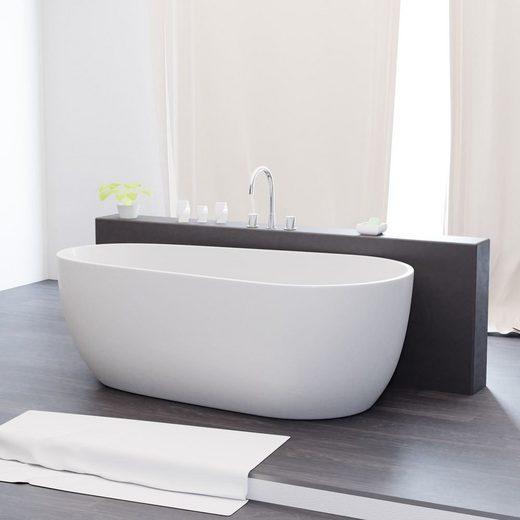 TroniTechnik Badewanne »Freistehende Badewanne Dia«, (1-tlg), aus glasfaserversärktem Acryl, mit Überlauf-Ablauf und Push-to-open Abfluss