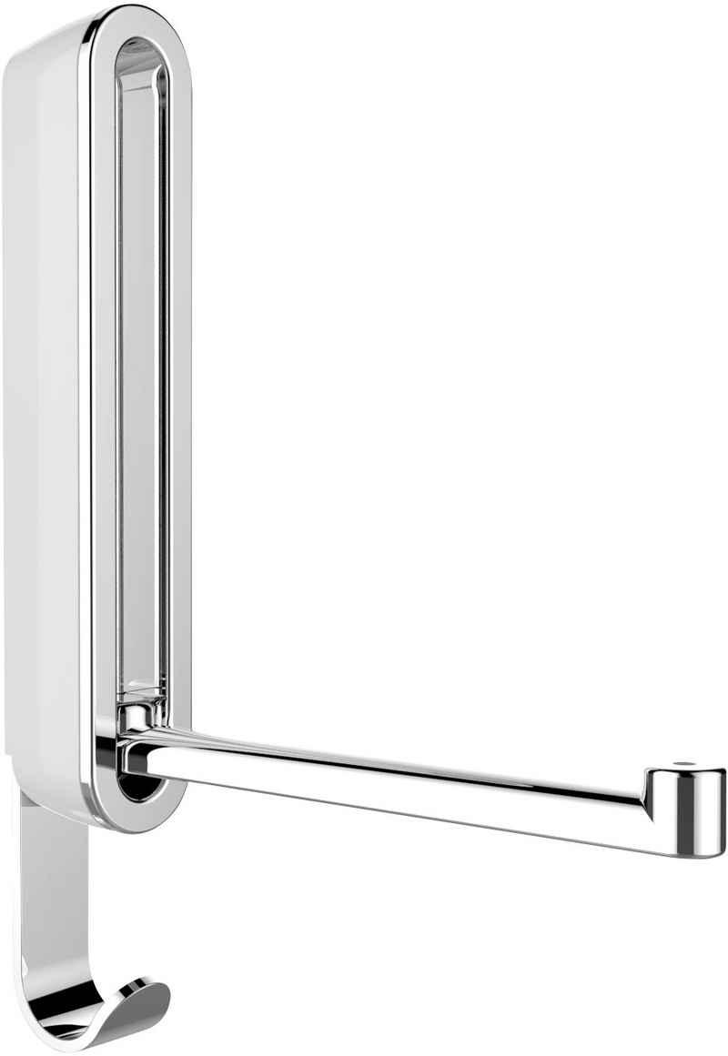 Klapphaken »Premium Sigma«, WENKO, im ovalen Premium-Design aus stabilem Kunststoff mit robustem Metallhaken