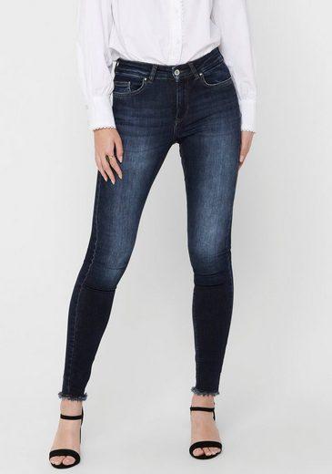 Only Skinny-fit-Jeans »ONLBLUSH LIFE« mit ausgefranstem Saum