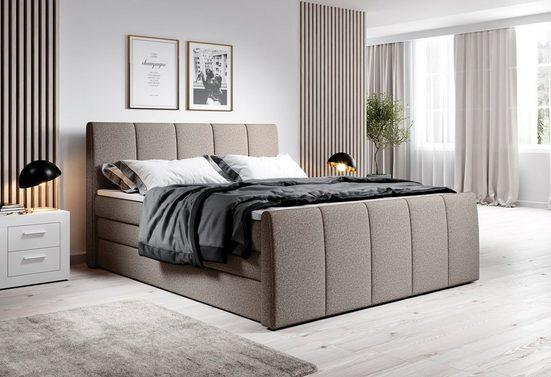 INOSIGN Boxspringbett »Fresco«, incl. 2 Bettkästen, Liegehöhe 60 cm, Kaltschaumtopper