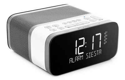 Pure »Siesta S6« Digitalradio (DAB) (Digitalradio (DAB), DAB/DAB+ sowie UKW Radio, 40 Senderspeicherplätze, Weckfunktion, Sleep-Timer, Bluetooth, USB, AUX, CrystalVue+ Display)