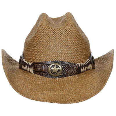 "FoxOutdoor Strohhut »Strohhut, ""Georgia"", mit Hutband, braun« mit Western Style Hutband"