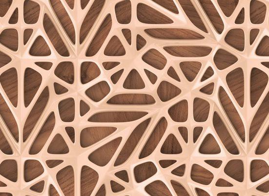 living walls Fototapete »Designwalls Organic Surface 2«, glatt, (5 St)