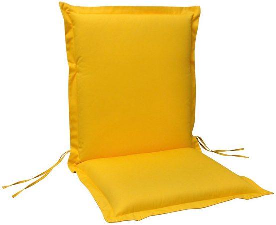indoba Polsterauflage »Premium«, (4 St), extra dick - Gelb- IND-70441-AUNL-4